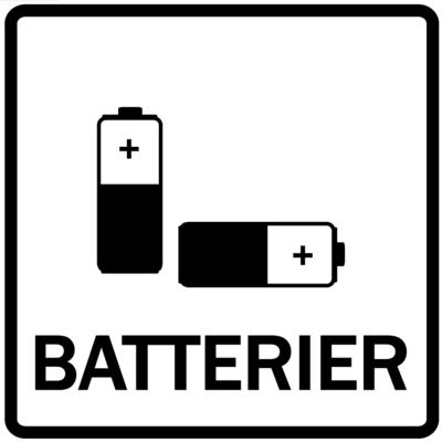 Piktogram - Batterier