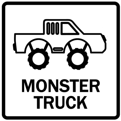 Piktogram - Monster truck