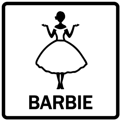Piktogram - Barbie