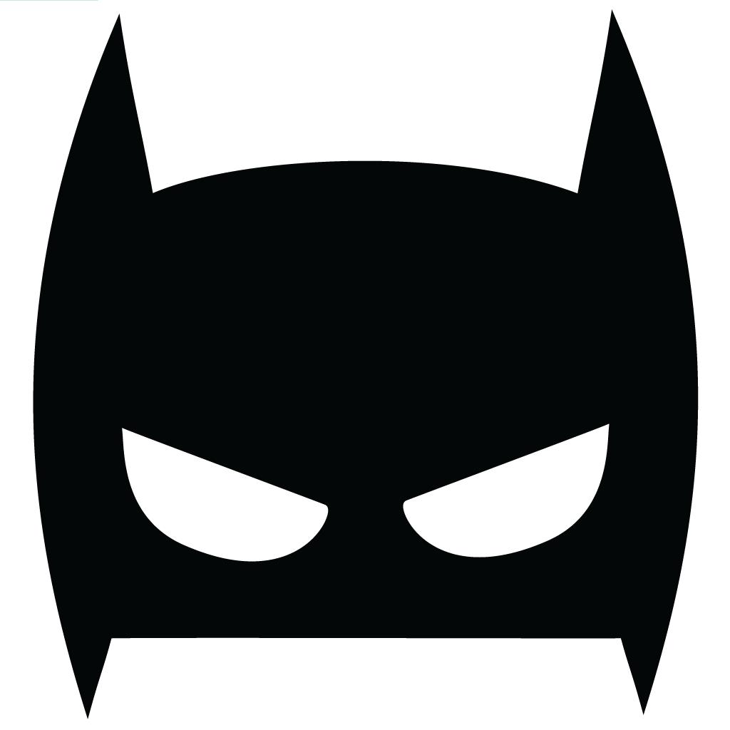 batman face mask template - mini batman maske
